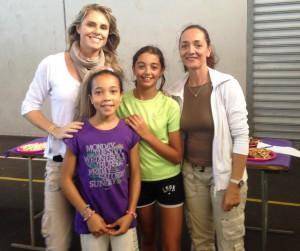 Mme Potier, Marthe, Célia et Mme Brial