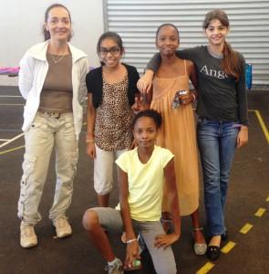 Mme Brial et ses élèves de l'aérobic