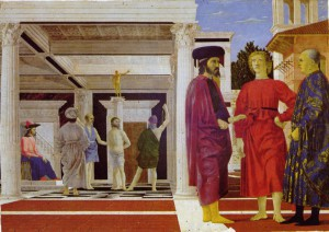 Piero_della_Francesca_1455 la flagellation du Christ